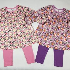 Hanna Andersson 90 3T Play Dresses Pants 4-Pc Lot